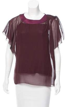 Marc Jacobs Tie-Accented Sheer Top