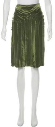 Calvin Klein Silk Raw-Edge Skirt