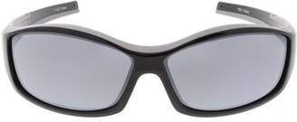 Sunglass.La TR-90 Sports Wrap Sunglasses Tapered Arms Rectangle Lens 66mm (Black / Smoke)