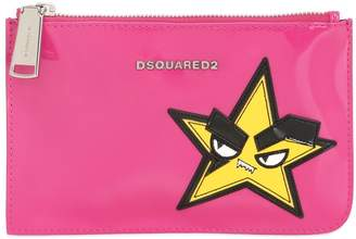 DSQUARED2 Small Hand Patch Patent Leather Pouch