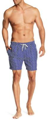 The Endless Summer Wavy Print Swim Trunks