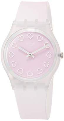 Swatch Womens Analogue Quartz Watch with Silicone Strap GE273