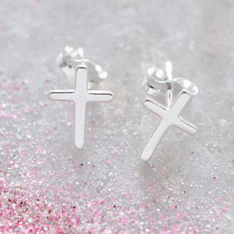 Silver Cross Hurleyburley Junior Girls Tiny Sterling Earrings