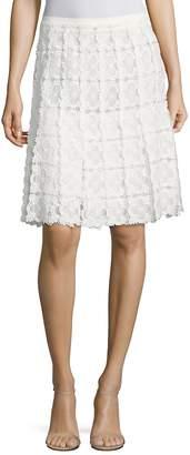 Elie Tahari Women's Tyler Floral Lace Skirt