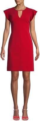 Vince Camuto Flutter-Sleeve Mini Dress