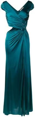 Roberto Cavalli side-slit maxi dress