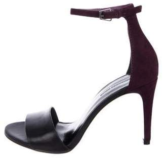 Alexander Wang Suede Ankle Strap Sandals Purple Suede Ankle Strap Sandals