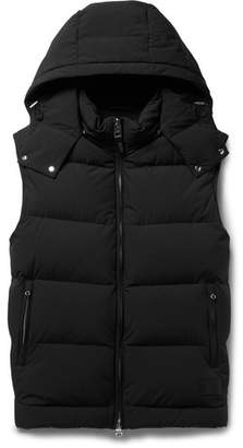 Dunhill Quilted Stretch-Shell Hooded Down Gilet