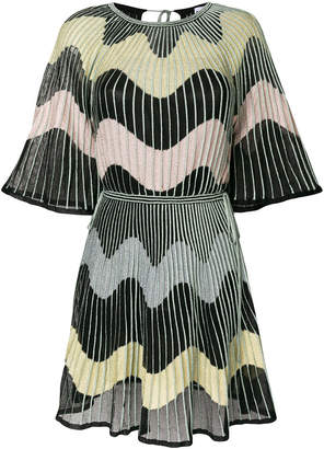 M Missoni embroidered flared dress