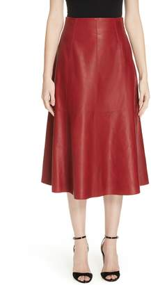 Kate Spade Leather Flare Skirt