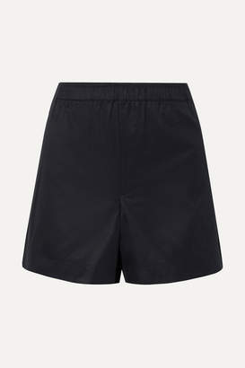Helmut Lang Coated Cotton-twill Shorts - Midnight blue
