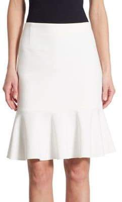 Akris Punto Jersey Flounce Skirt