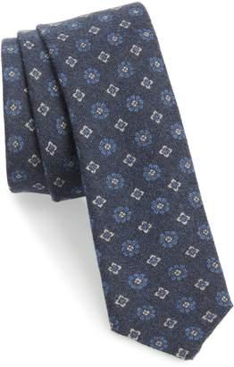 Eleventy Medallion Wool Skinny Tie
