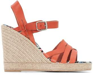Pare Gabia Astrid Leather Wedge Sandals