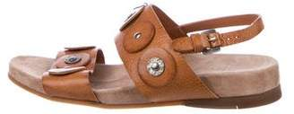 Henry Beguelin Leather Slingback Sandals
