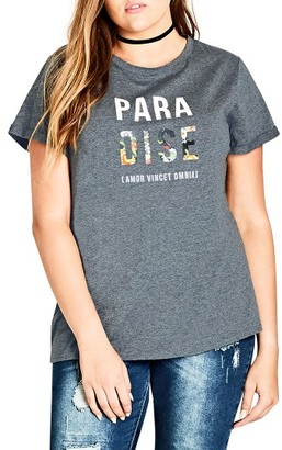 Plus Size Women's City Chic Paradise Graphic Tee $39 thestylecure.com