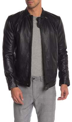 Diesel Leather Front Zip Jacket