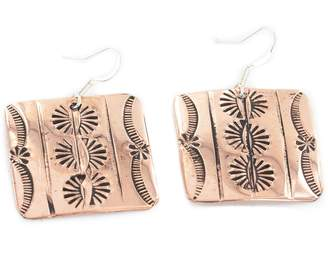 Rob-ert Native-Bay $150 Retail Tag Authentic Handmade Navajo Made by Robert Little Pure Dangle Copper Native American Earrings