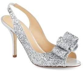Kate Spade Charm Glitter Slingbacks