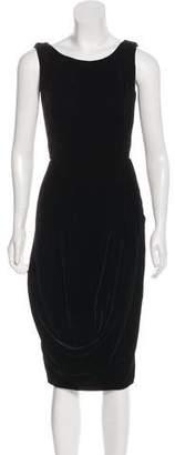 Alexander McQueen Velvet Midi Dress