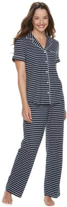 Croft & Barrow Women's Printed Shirt & Pants Pajama Set