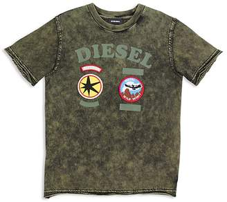 Diesel Boys' Mineral Wash Patch Tee - Big Kid