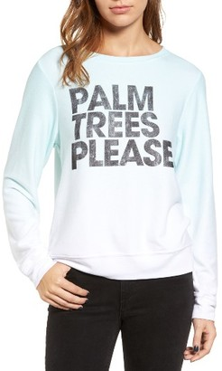 Women's Wildfox Palm Trees Please Sweatshirt $108 thestylecure.com
