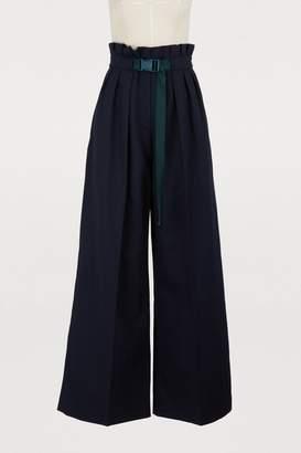 Kenzo Cotton and linen larg pants