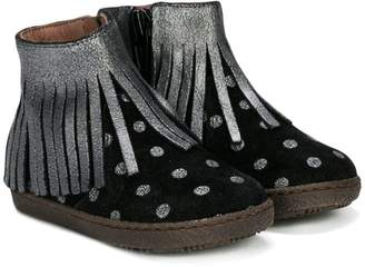 Pépé fringed polka dot ankle boots