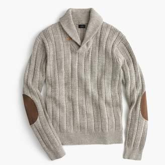 J.Crew Cotton mariner shawl-collar sweater
