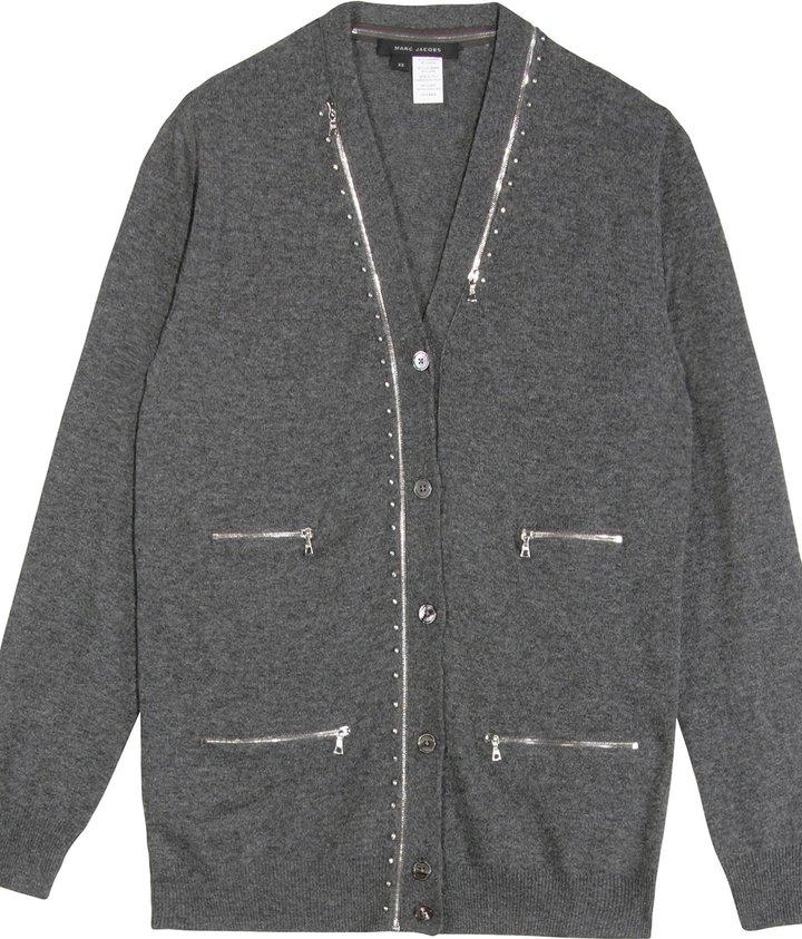 Marc Jacobs Cashmere Blend Zipper Cardigan