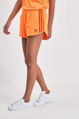 adidas Womens 3 Stripe Short - Orange