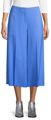 Diane von Furstenberg Cropped Wide-Leg Pants