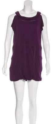 Saint Laurent Sleeveless Lace-Trimmed Dress