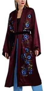 Alice Archer Women's Hadarah Embroidered Silk Kimono Jacket - Purple