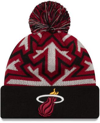 New Era Miami Heat Glowflake Cuff Knit Hat