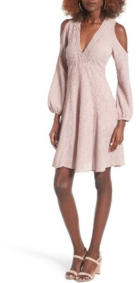 Women's Lush Cold Shoulder Dress $65 thestylecure.com