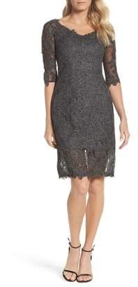 La Femme Lace Sheath Dress