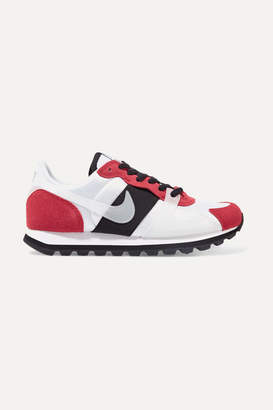 Nike V-love O.x. Suede, Pvc And Elastic-trimmed Mesh Sneakers - White