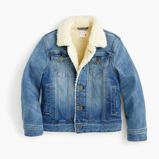 J.Crew Girls' sherpa-lined denim jacket
