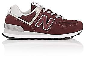 New Balance Women's 574 Classic Suede & Mesh Sneakers-Wine