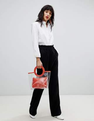 Pieces High Paper Bag Waist PANTS