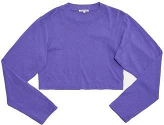 Cotton Citizen Tokyo Crop Shirt - Purple