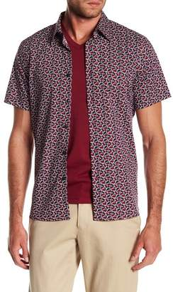 Perry Ellis Cactus Short Sleeve Stretch Fit Shirt