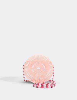Cult Gaia Acrylic Luna Bag in Pink Acrylic