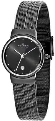Skagen Denmark 355SMM1 Women's Gunmetal Stainless Steel Watch $262 thestylecure.com