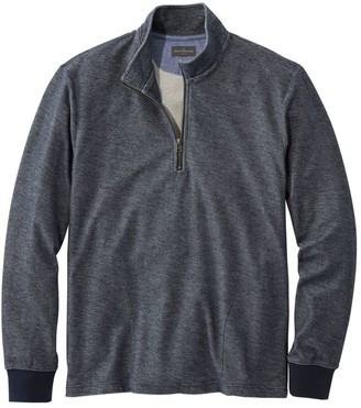 L.L. Bean L.L.Bean Men's Signature French Terry Pullover, Quarter-Zip, Long Sleeve, Slim Fit