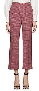 Fendi Women's Checked Wool Crop Trousers - Red