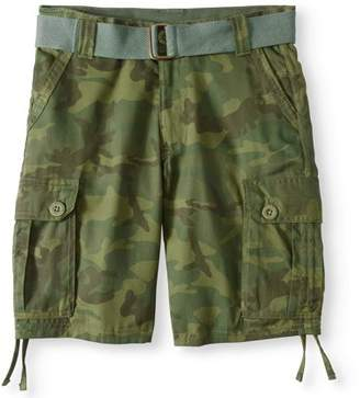 Beverly Hills Polo Club Big Boy All Over Printed Belted Poplin Fashion Cargo Shorts