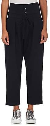 Yohji Yamamoto Regulation Women's High-Waist Wool-Blend Crop Pants